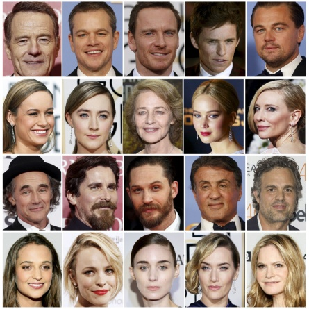 Oscar nominees are shown in this combination of file photos